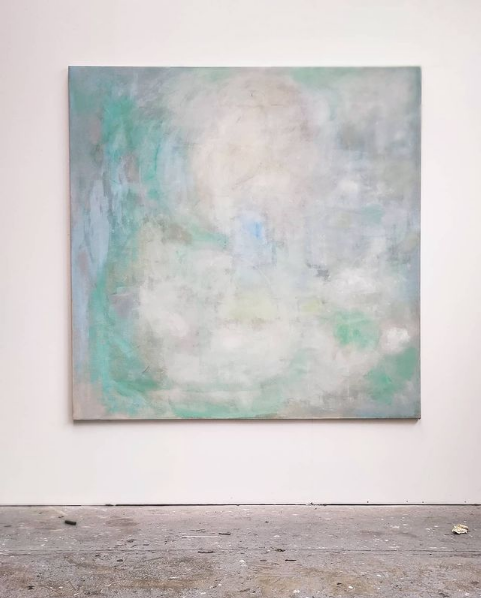 Return 200 II 2018. oil on canvas. 200x200cm